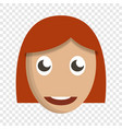 girl cute face icon cartoon style vector image