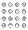 gray flat icon set 9 on circle vector image vector image