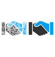 handshake composition of repair tools vector image