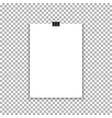 hanging paper banner a4 poster hanging mockup ve vector image vector image