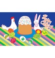 happy easter the postcard vector image
