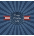 Happy Memorial Day paper Emblem with Text vector image vector image