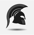 icon spartan helmet silhouette greek warrior vector image vector image