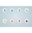 Infographic 3D Numbered Step Bubbles 3 vector image vector image