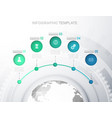 infographic template with five circles icons line vector image vector image