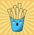 kawaii french fries image vector image