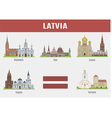 Latvia vector image vector image