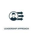 leadership approach icon creative element design vector image vector image