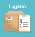 logidtic service with boxes vector image