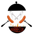 logo grilled food vector image vector image