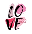 Love Watercolor hand lettering Modern brush vector image
