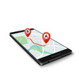 mobile gps system concept mobile gps app vector image