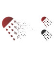 moving dot halftone spray stream icon vector image vector image