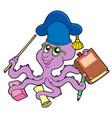 octopus teacher vector image
