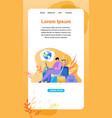 online service for traveler flat web banner vector image