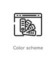 outline color scheme icon isolated black simple vector image vector image