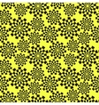 Pattern of black stylized gears vector image