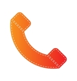 Phone sign Orange applique isolated vector image vector image