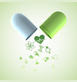 pills and medication background vector image vector image