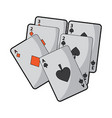 poker deck of cards gambling concept vector image vector image