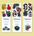 police justice symbol icons vertical banner vector image vector image