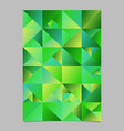 polygonal abstract geometrical triangle poster vector image vector image