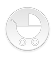 Pram button vector image vector image