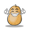 proud potato character cartoon style vector image vector image