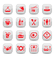 restaurant icons set vector image vector image