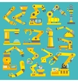 Robotic arm flat vector image vector image