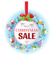 Sale Christmas banner vector image