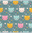 seamless pattern with kittens vector image