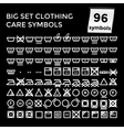 Set Clothing Care Symbols on vector image