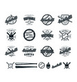 set of baseball and softball badges vector image vector image