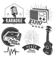 set of karaoke and music labels in vintage vector image