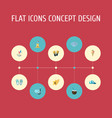 set of season icons flat style symbols with kite vector image
