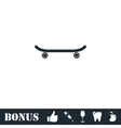 Skateboard icon flat vector image vector image