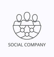 social company thin line icon and concept vector image vector image