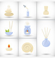 spa flat icons set vector image vector image