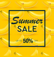 summer sale banner with background of ripe fruit vector image vector image