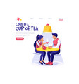 tea time pastry banner vector image