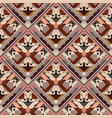 tiled rhombus tribal seamless pattern vector image vector image