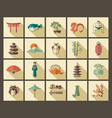traditional symbols of japan vector image vector image