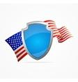 USA Flag and Shield vector image vector image