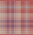 vintage check plaid fabric texture seamless vector image vector image