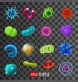 viruses bacteria infection and germs in vector image