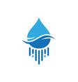 water blue logo icon vector image vector image