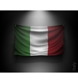 waving flag italy on a dark wall vector image vector image