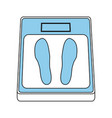 weight scale icon image vector image