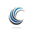 circle swirl abstract business logo vector image